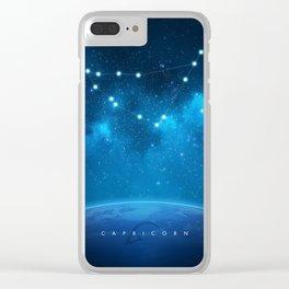Capricorn: Astrological Art Clear iPhone Case