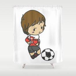 Professional Footballer Shower Curtain