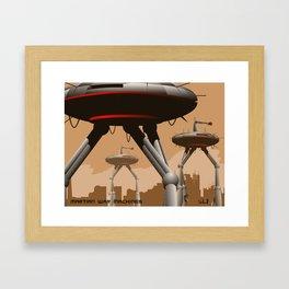 Martian War Machines! Framed Art Print