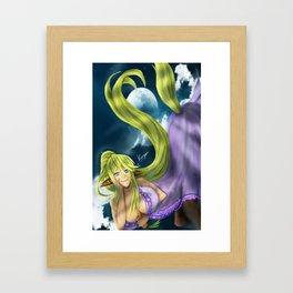 Centaurea in lala Land Framed Art Print