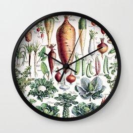Adolphe Millot - Légumes pour tous - French vintage poster Wall Clock