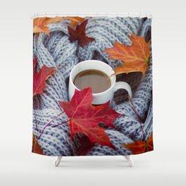 autumn coffee Shower Curtain