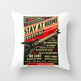 Distancing Quarantine Social Stay Home Festival 2020 Throw Pillow