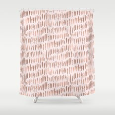 Blush Pink Rose Gold Abstract Shower Curtain
