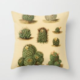 Naturalist Cacti Throw Pillow