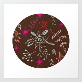 Winter Floral Art Print