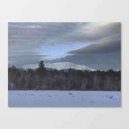 Snowy Katahdin Canvas Print