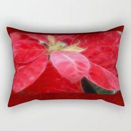 Mottled Red Poinsettia 2 Blank P5F0 Rectangular Pillow
