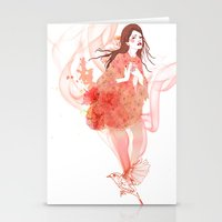 flora Stationery Cards featuring Flora by Anne Cresci