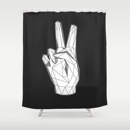 Geometric Peace sign Shower Curtain