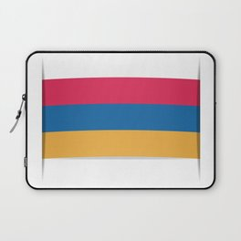 Flag of Armenia. The slit in the paper with shadows.  Laptop Sleeve