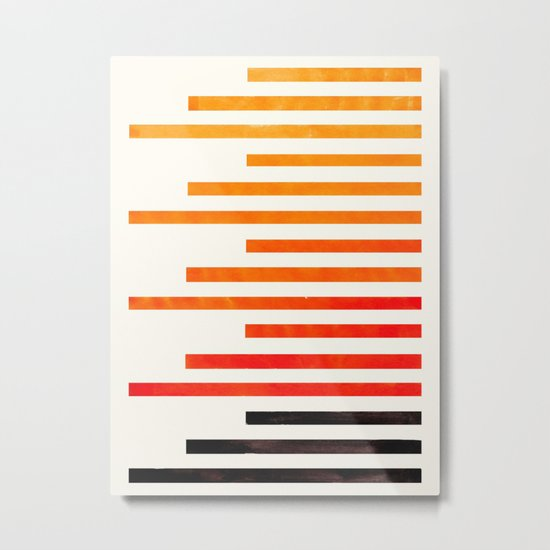 Orange Watercolor Gouache Staggered Stripes Pattern Simple
