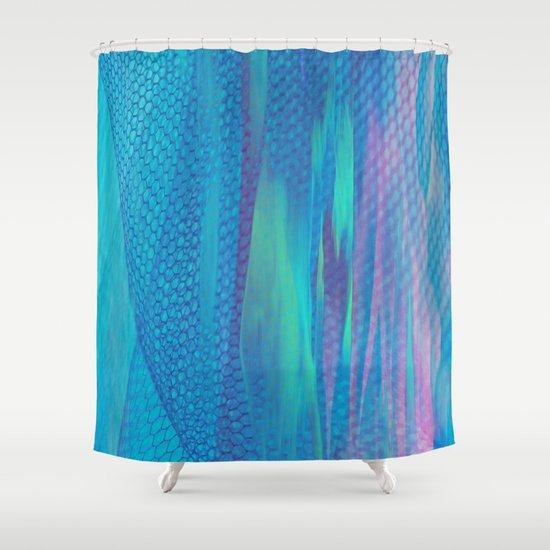 Tulle fantasy 2 shower curtain by klara acel society6 for Fantasy shower curtains