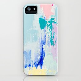MAVEN // ABSTRACT MIXED MEDIA ON CANVAS iPhone Case