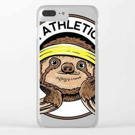 Sloth Athletic Team Slow Sleepy Animals T Shirt Clear iPhone Case