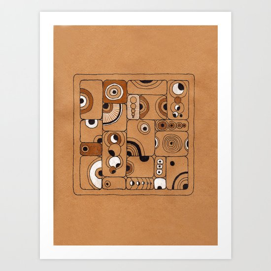 The Tile Art Print