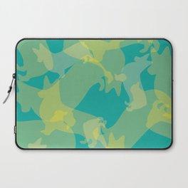 Blue & Yellow Corgi Pattern Laptop Sleeve