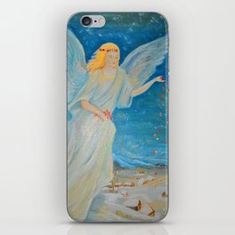 Bless me | Guardian Angels are Here | Angel of Abundance | Love iPhone Skin