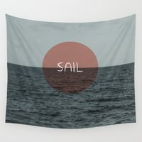 sail Wall Tapestries featuring Sail by Carla Talabá