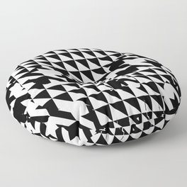 houndstooth skull #1 Floor Pillow