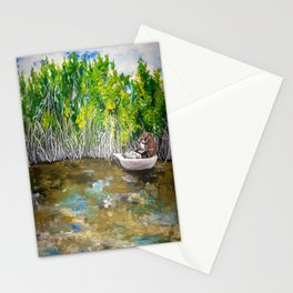 Florida Mangrove Tea Water in the Everglades Stationery Cards