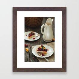 Rustic Food. Framed Art Print