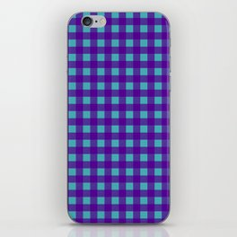 Buffalo Check Plaid in Purple and Turquoise iPhone Skin