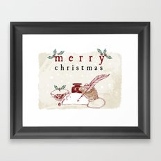 Dear Santa Christmas Card Framed Art Print