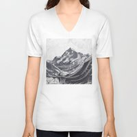 cook V-neck T-shirts featuring Cook Grey by varvar2076