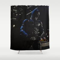 superhero Shower Curtains featuring Superhero by VAWART