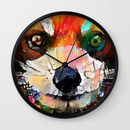 Red Panda Smiles Wall Clock