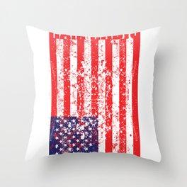 USA Flag Ham Radio print Throw Pillow