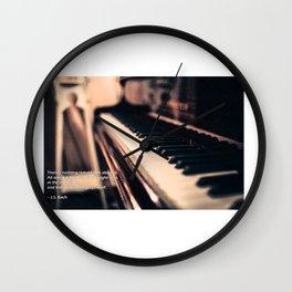 Bach's Piano Wall Clock
