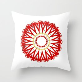 Mandala with colon cancer ribbon Throw Pillow