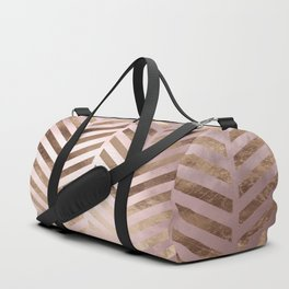 Champagne Rosegold Abstract Pattern Duffle Bag