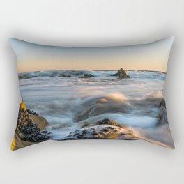 Sunset Tide at El Matador Beach Rectangular Pillow
