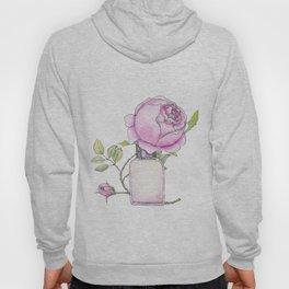 Fragrance bottle with rose flower Hoody