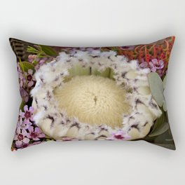 Fur Coat Protea Rectangular Pillow