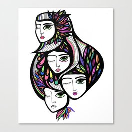 Neon Trio Canvas Print