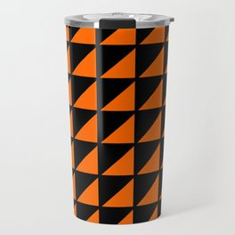 orange triangle Travel Mug