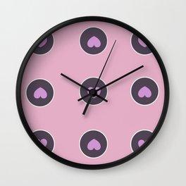 Circle Pattern With Hearts Wall Clock