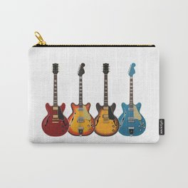 Four Electric Guitars Carry-All Pouch