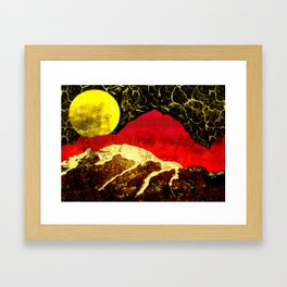 Storm on Red Mountain Framed Art Print
