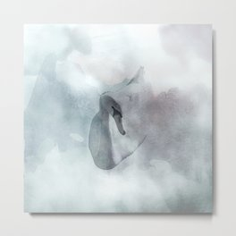 Swan on watercolors Metal Print