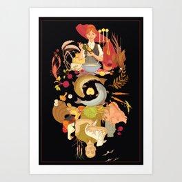 Yum-yum in the tum-tum Art Print