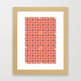 Round Pegs Square Pegs Red-Orange Framed Art Print