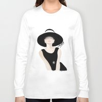 tiffany Long Sleeve T-shirts featuring Breakfast Tiffany by carotoki