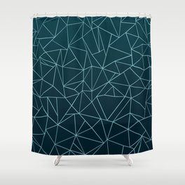 Ombre Ab Teal Shower Curtain