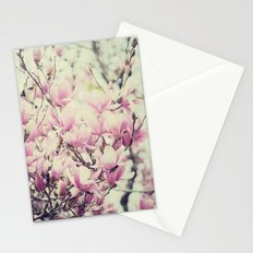 Purple Magnolia Blossoms Spring Botanical Stationery Cards