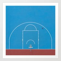 From Above — Basketball Court Art Print
